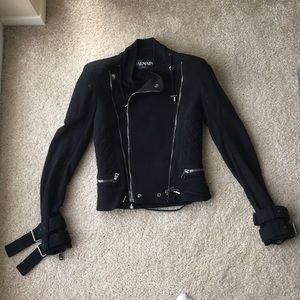 AUTHENTIC Balmain cotton biker jacket sz 34